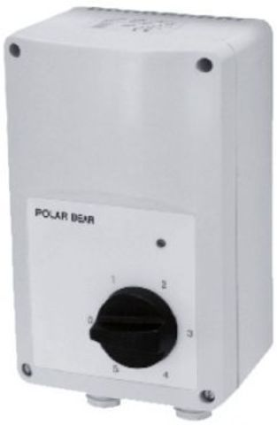 Регулятор скорости Polar Bear VRTE 1,5 однофазный пятиступенчатый (в корпусе)
