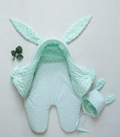Комбинезон для новорожденного, шапочка
