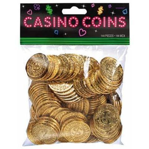 Монеты Казино золотые, 144 штуки