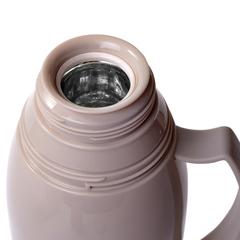 Термос 1000мл Кремовый (пластик со стеклянной колбой)