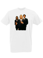 Футболка с принтом Курт Кобейн, Нирвана (Nirvana, Kurt Cobain) белая 0003