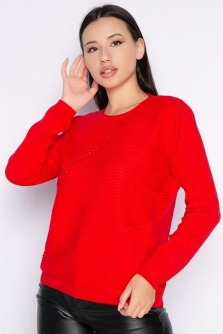 """<p>Модный джемпер """"Аска"""" - это именно та часть женского гардероба, которая согревает Вас в прохладное время года, позволяя выглядеть стильно и женственно в любой ситуации.</p>"""
