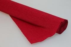 Бумага гофрированная простая вишневый (586), 50 см./250 см.