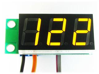 Встраиваемый цифровой термометр с выносным датчиком, ультра-яркий желтый индикатор.