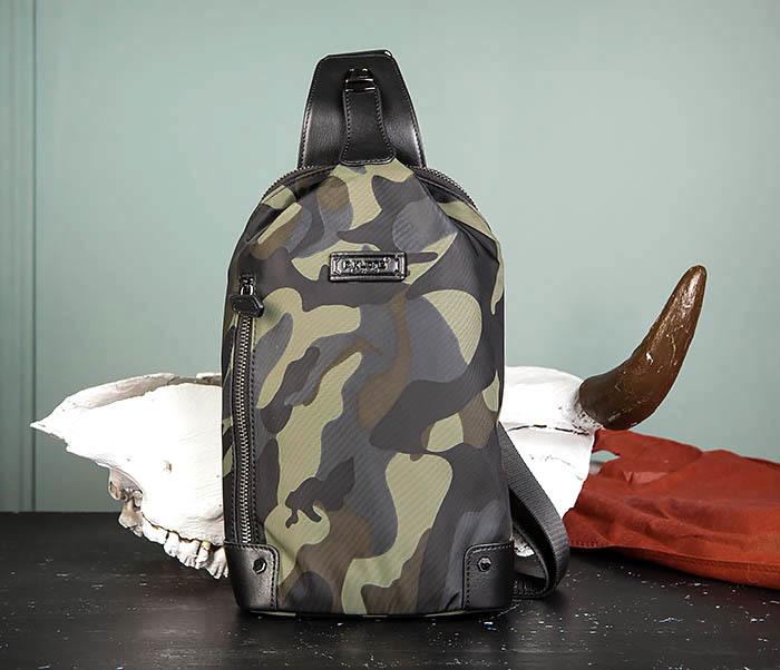 BAG489-3 Тканевая мужская сумка «банан» с одной лямкой фото 02