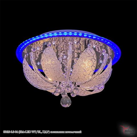 05613-0.3-04 (E14+LED WT/BL, ПДУ) светильник потолочный