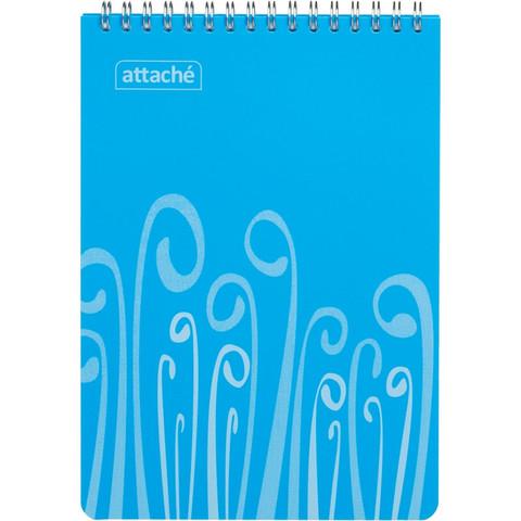 Блокнот Attache Fantasy А5 80 листов голубой в клетку на евроспирали (147х215 мм)