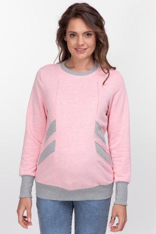 Утепленный свитшот для беременных и кормящих 10896 розовый