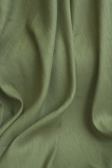 Лен с вискозой смягченный, цвет зеленый