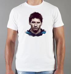 Футболка с принтом Лионель Месси (Lionel Messi) белая 0019