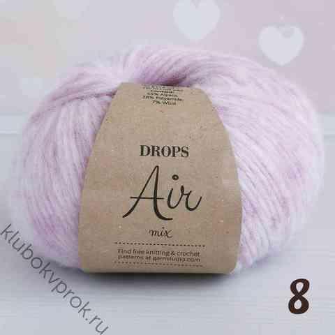 DROPS AIR 08, Розовый белый меланж