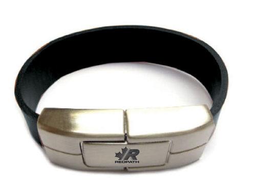 usb-флешка кожаный браслет с нанесением оптом