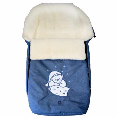 №S77 Exlusive Bear  melange fabric (синий)