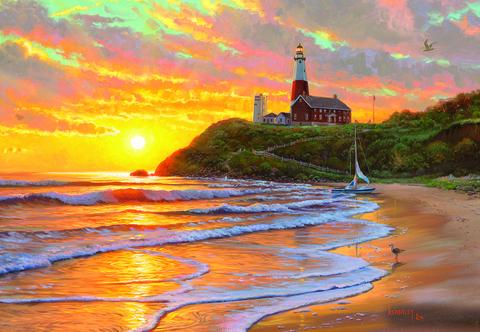 Картина раскраска по номерам 50x65 Заказ на берегу моря (арт. RA3576)