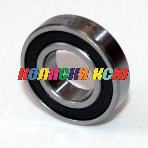 Подшипник 61901 2rs (6901 2rs) резиновый уплотнитель (вн.диаметр 12мм, наруж диам 24мм) №009007