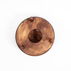 Винный столик из Сибирского Кедра со съемной чашкой, фото 6