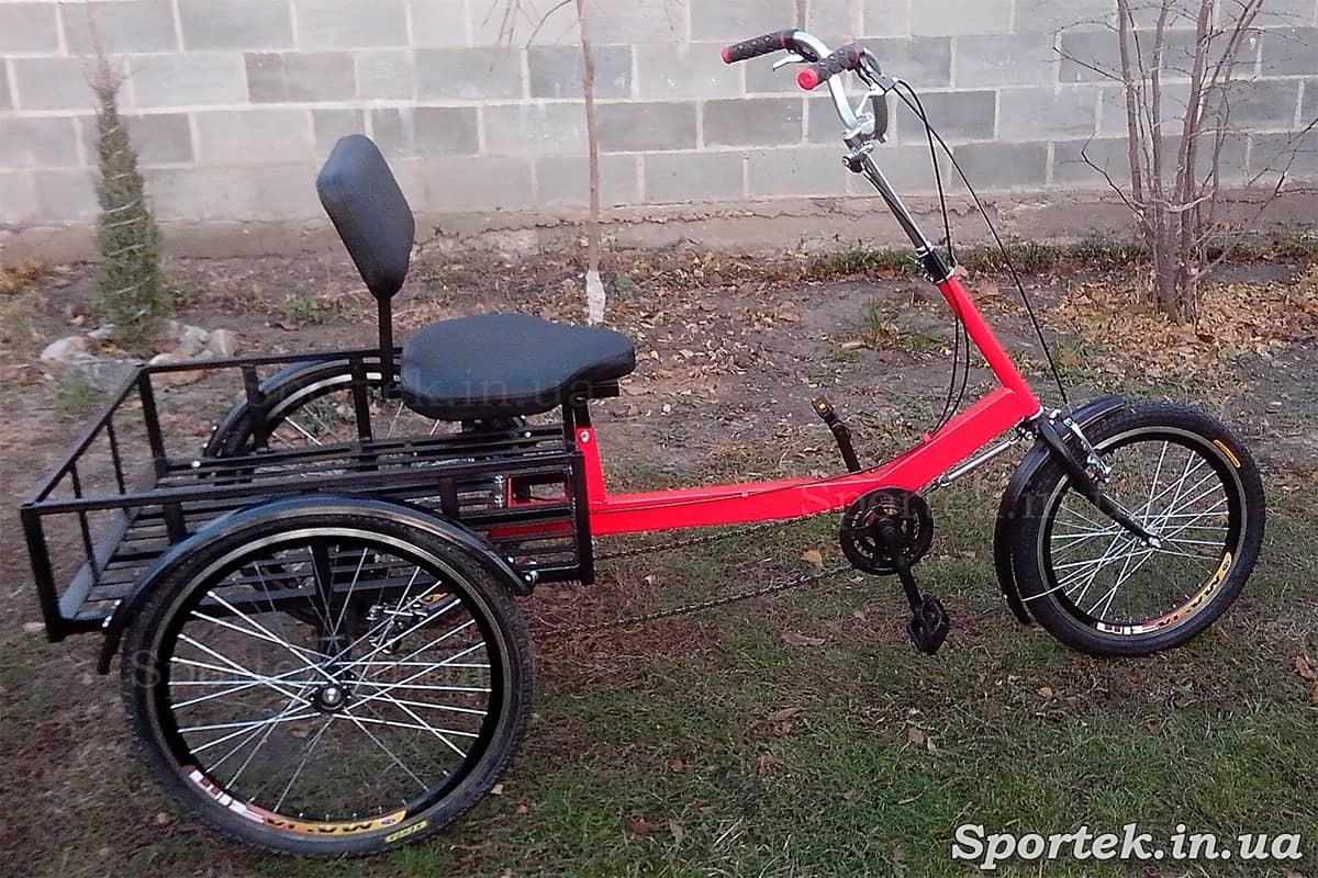 Вантажний триколісний велосипед 'Атлет великий' з задніми 24 дюймовими колесами
