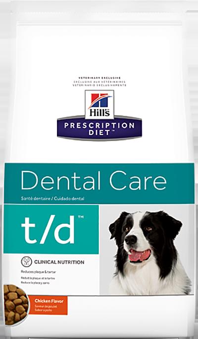 Сухой корм Ветеринарный корм для собак, Hill`s Prescription Diet t/d, гигиена полости рта, с курицей тд.png