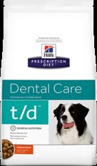 Ветеринарный корм для собак, Hill`s Prescription Diet t/d, гигиена полости рта, с курицей