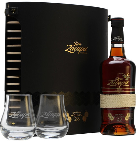 Zacapa Centenario, Solera Gran Reserva 23 years, gift box with two glasses, 0.7 л