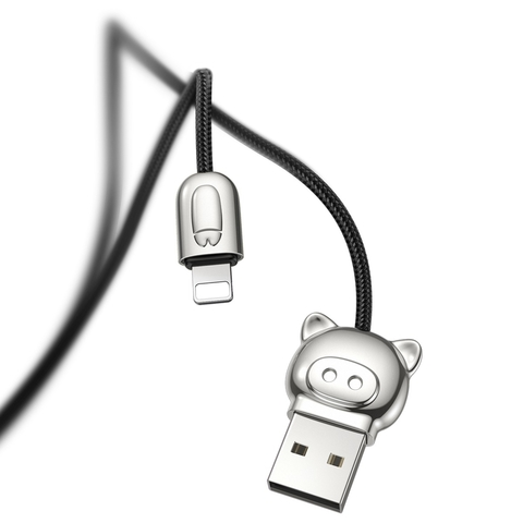 Кабель Baseus 3-in-1 USB Cable of Three Little Pigs USB For M+L+T 3.5A 1.2m Black