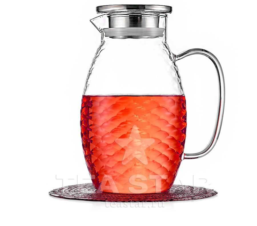 Чайники заварочные стеклянные Кувшин для воды с крышкой 1,5 литра, стеклянный для холодных и горячих напитков Kuvshin-dlia-soka-i-kokteiley1500ml.jpg
