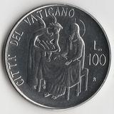 K9630, 1981, Ватикан, 100 лир Иоанн Павел II aUNC (Подношение)