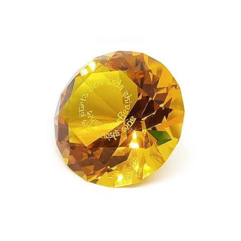 Кристалл желтый с мантрой