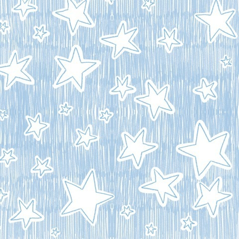 Звездопад на голубом небе