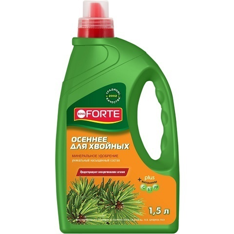 Удобрение BONA FORTE для хвойных лето-осень 1,5 л