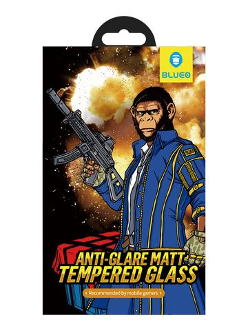Защитное стекло BlueO для iPhone 7/8 закален. с олеоф.покр. | 2.5D матовое черное 0.26мм
