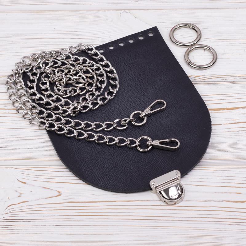 """Каталог Комплект для сумочки Орео """"Черный пулап"""" с цепочкой IMG_7177.jpg"""