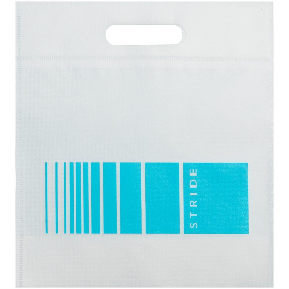 Stride Bag, white with blue