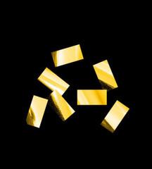 Конфетти металлизированное, Прямоугольное Золото, 1*2см, / 100 г. /