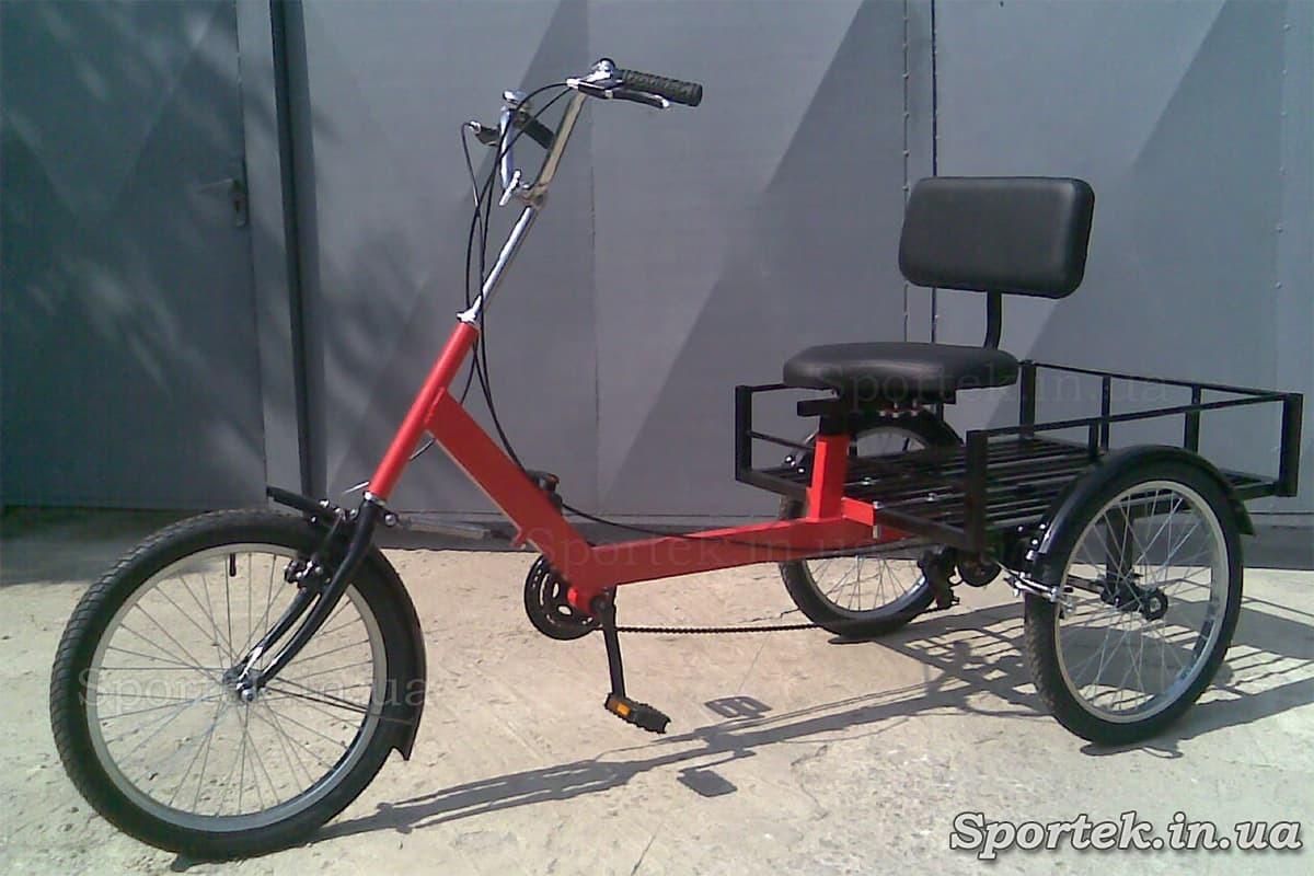 Вантажний триколісний велосипед 'Атлет великий' (червоний)