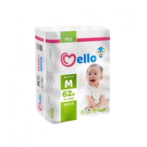 Подгузники Mello размер M (6-10 кг) 62 шт