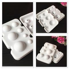 Силиконовая форма для шоколада Разные шары (2 половинки)