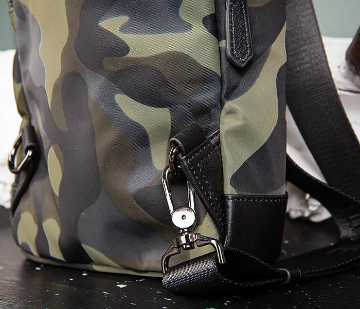 BAG489-3 Тканевая мужская сумка «банан» с одной лямкой фото 06