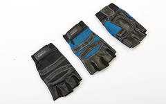 Перчатки для кроссфита и воркаута кожаные SPORT размер S-L цвета в ассортименте