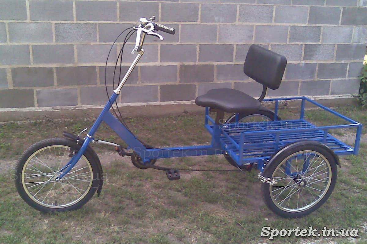 Вантажний триколісний велосипед 'Атлет великий' (синій)