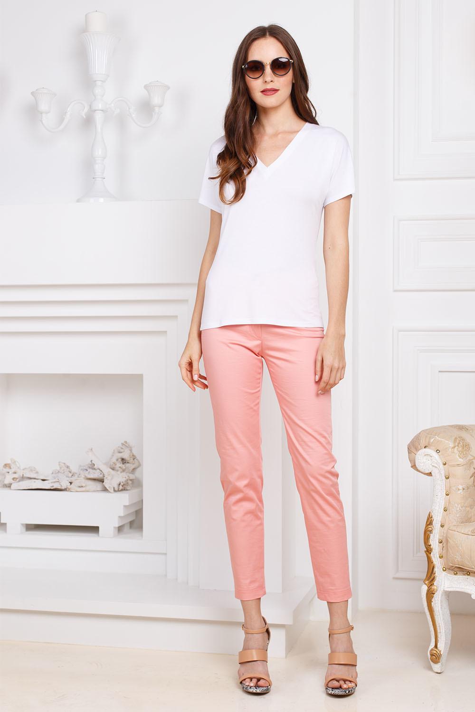 Брюки А467-784 - Слегка зауженные, укороченные хлопковые брюки. Средняя посадка, спереди и сзади классические брючные карманы. Эта модель идеально смотреться на любой фигуре. Стильные и комфортные, они станут любимой моделью на лето.