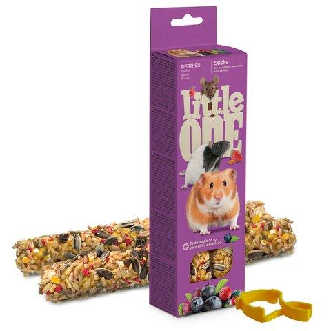 Little One палочки для хомяков, крыс, мышей и песчанок с ягодами 2шт*60 г