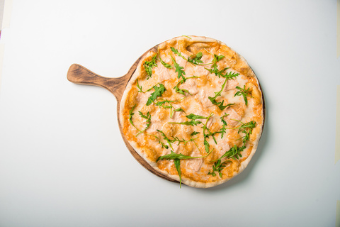 Пицца 35 см Сёмга и руккола 420г