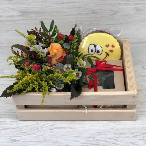 Подарочный набор с конфетами ручной работы