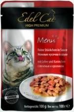 Edel Cat Пауч для кошек Edel Cat нежные кусочки в соусе, печень, кролик _file51ee1f6f80287_x150.jpg