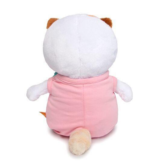 Ли-Ли Baby в розовом комбинезоне с клубничкой