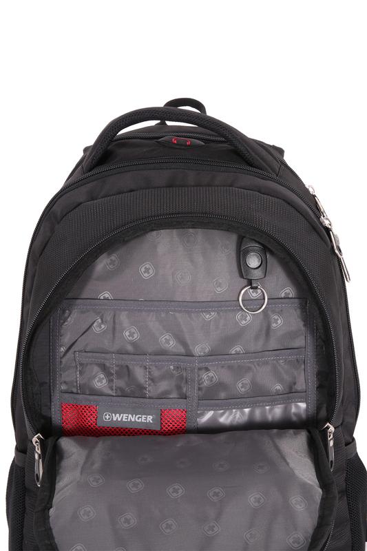 Рюкзак WENGER RAD, цвет черный/красный (1178215)