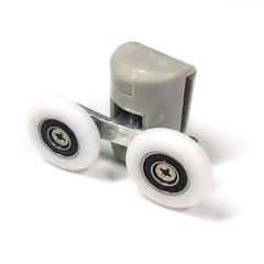 Ролик для душевой кабины B-43-C 26 мм. Полиуретановый ролик с закрытым подшипником конструкция коретки предназначена для двух съемных роликов.