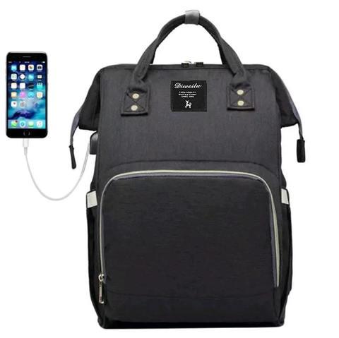 Mommy Bag. Сумка-рюкзак для мамы, черный