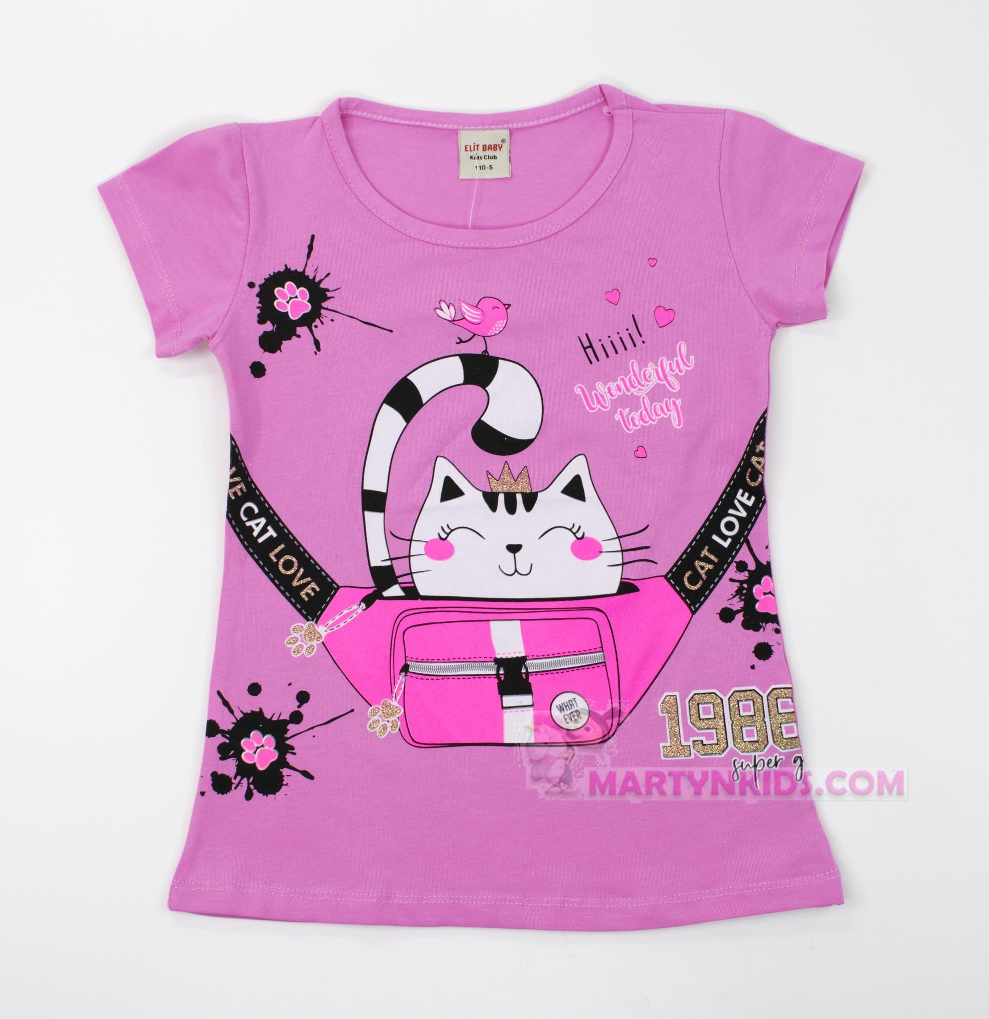 3036  футболка Киса в сумке